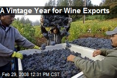 A Vintage Year for Wine Exports