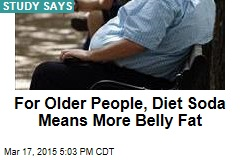 For Older People, Diet Soda Means More Belly Fat