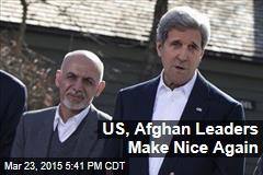 US, Afghan Leaders Make Nice Again