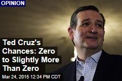 Ted Cruz's Chances: Zero to Slightly More Than Zero