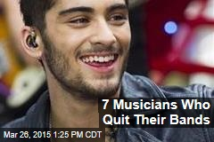 7 Musicians Who Quit Their Bands