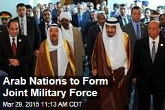 Arab Nations to Form Joint Military Force
