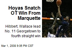 Hoyas Snatch OT Win From Marquette