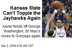 Kansas State Can't Topple the Jayhawks Again