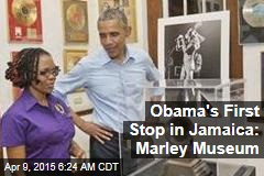 Obama's First Stop in Jamaica: Marley Museum