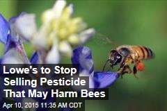 Lowe's to Stop Selling Pesticide That May Harm Bees