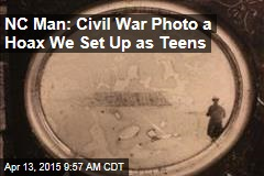 NC Man: Civil War Photo a Hoax We Set Up as Teens