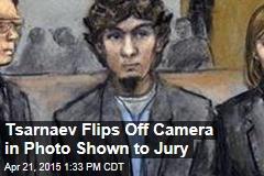 Tsarnaev Flips Off Camera in Photo Shown to Jury