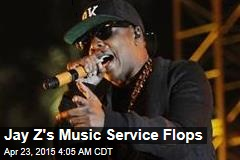 Jay-Z's Music Service Flops