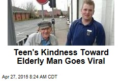 Teen's Kindness Toward Elderly Man Goes Viral