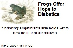 Frogs Offer Hope to Diabetics