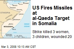 US Fires Missiles at al-Qaeda Target in Somalia