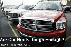 Are Car Roofs Tough Enough?