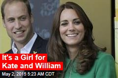 It's a Girl for Kate and William
