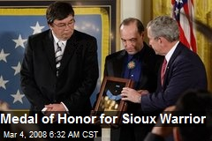 Medal of Honor for Sioux Warrior
