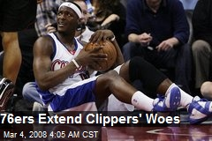 76ers Extend Clippers' Woes