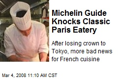Michelin Guide Knocks Classic Paris Eatery