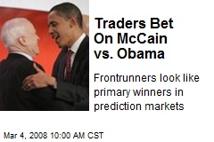 Traders Bet On McCain vs. Obama