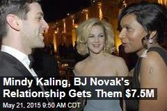 Mindy Kaling, BJ Novak's Relationship Gets Them $7.5M