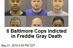 6 Baltimore Cops Indicted in Freddie Gray Death