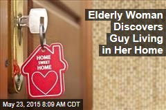Elderly Woman Discovers Guy Living in Her Home