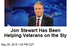 Jon Stewart Has Been Helping Veterans on the Sly