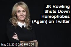 JK Rowling Shuts Down Homophobes (Again) on Twitter