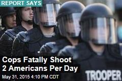 US Cops Shoot, Kill 2 People Per Day: Report