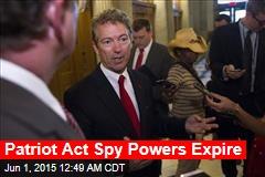Patriot Act Spy Powers Expire