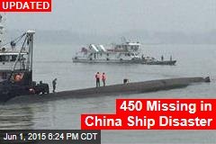 Passenger Ship With 444 People Sinks in China
