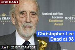 Christopher Lee Dead at 93