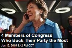 4 Members of Congress Who Buck Their Party the Most