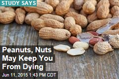 Peanuts, Nuts May Keep You From Dying