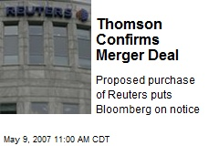 Thomson Confirms Merger Deal