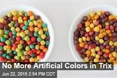 No More Artificial Colors in Trix
