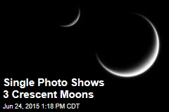 3 Crescent Moons Put on Sky Show in Rare Photo