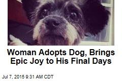 Woman Adopts Dog, Brings Epic Joy to His Final Days