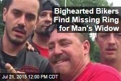 Bighearted Bikers Find Missing Ring for Man's Widow