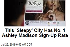 'Sleepy' City Has Highest Affair Site Sign-Up Rate