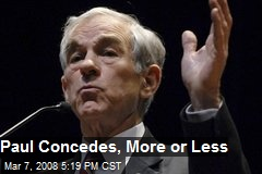 Paul Concedes, More or Less