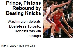 Prince, Pistons Rebound by Beating Knicks