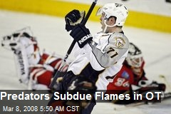 Predators Subdue Flames in OT