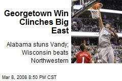Georgetown Win Clinches Big East