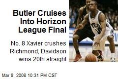 Butler Cruises Into Horizon League Final