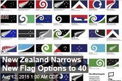 New Zealand Narrows New Flag Options to 40