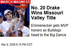 No. 20 Drake Wins Missouri Valley Title