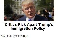 Critics Pick Apart Trump's Immigration Policy