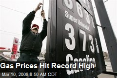 Gas Prices Hit Record High