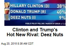 Clinton and Trump's Hot New Rival: Deez Nuts