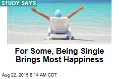 For Some, Being Single Brings Most Happiness